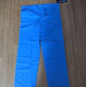 Ciel blue unisex scrub bottoms size small NWT